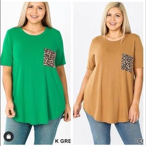 READY FOR AN ADVENTURE LEOPARD PRINT POCKET TUNIC